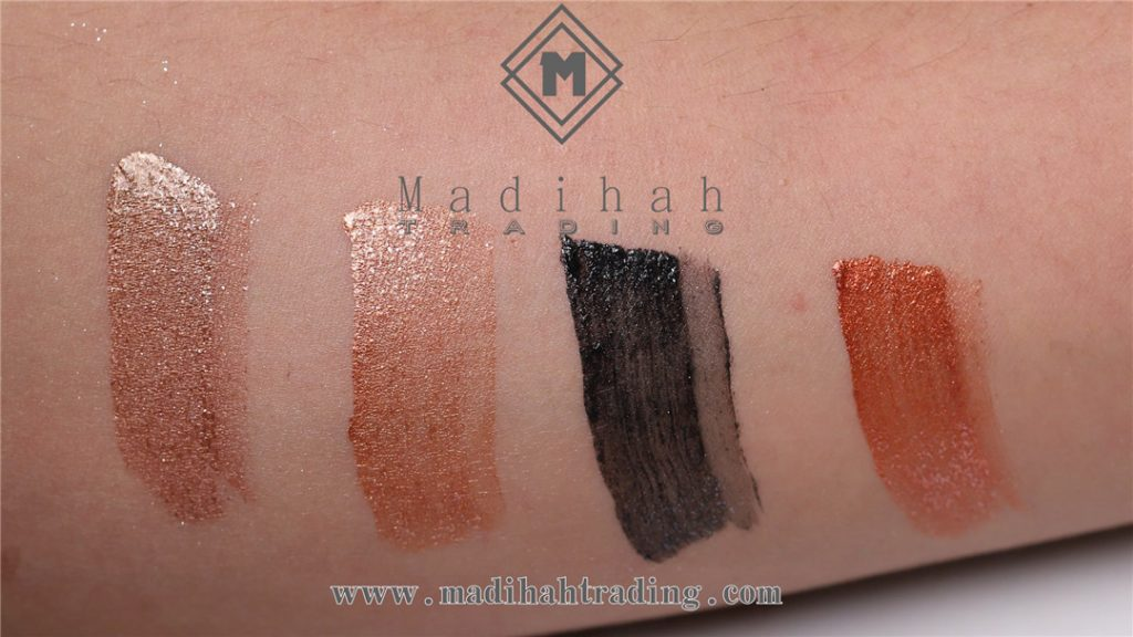 Madihah metallic liquid eyeshadow swatches