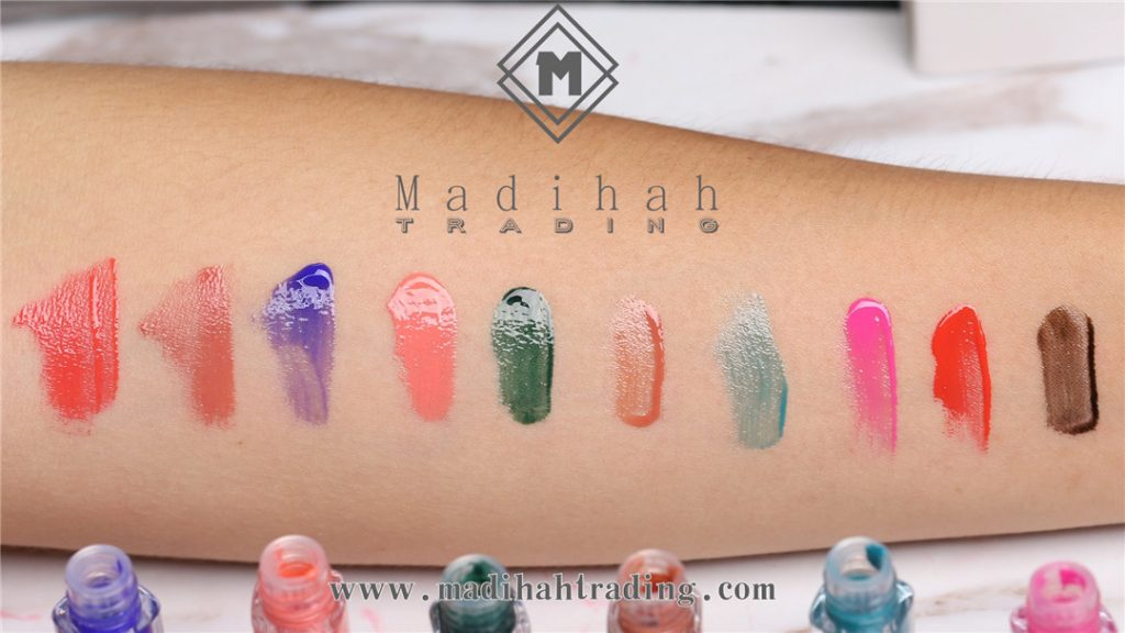 Madihah Glossy Lip Gloss 02 Color Swatches