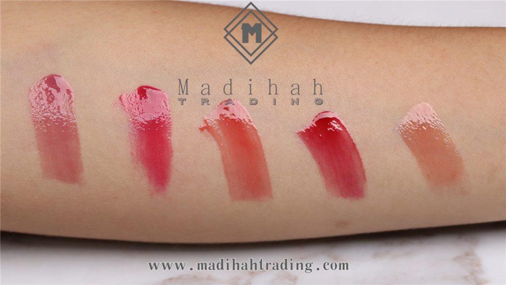 Madihah glossy lip gloss 03 swatches