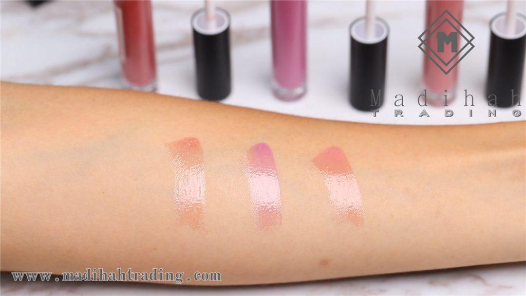 Madihah glossy lip gloss 04 swatches
