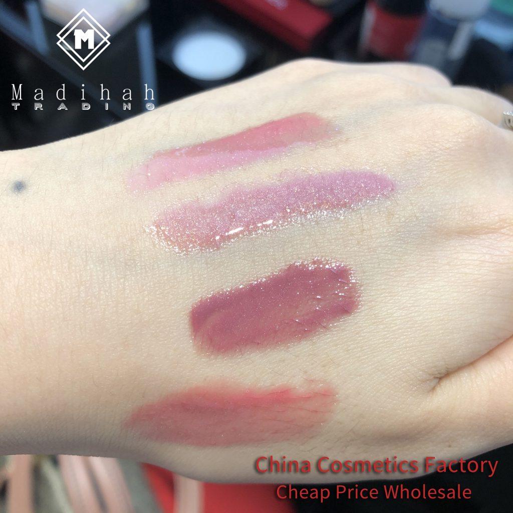 Madihah glitter lip gloss swatches