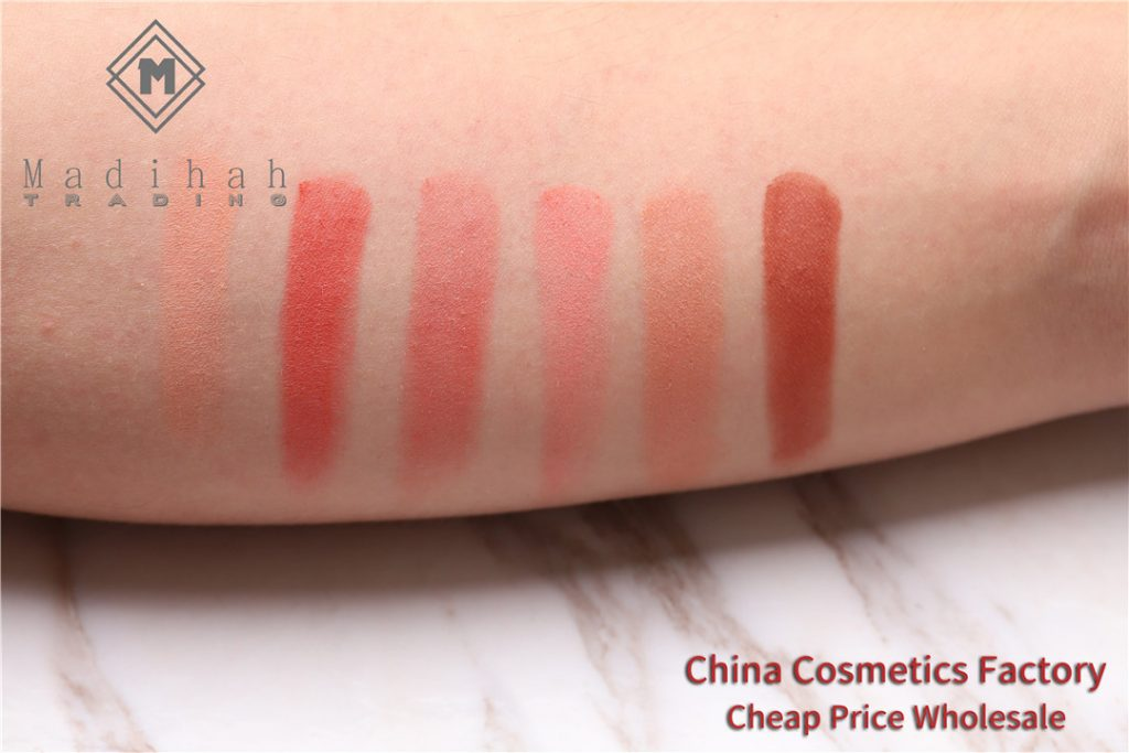 Madihah blusher powder swatches