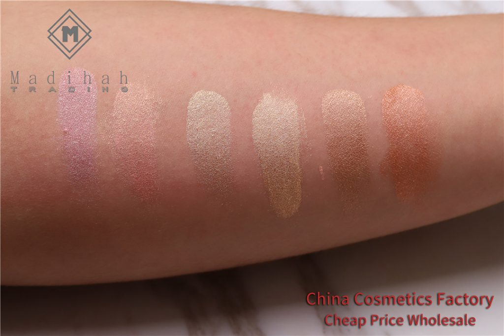 Madihah Highlighter Loose Powder Swatches