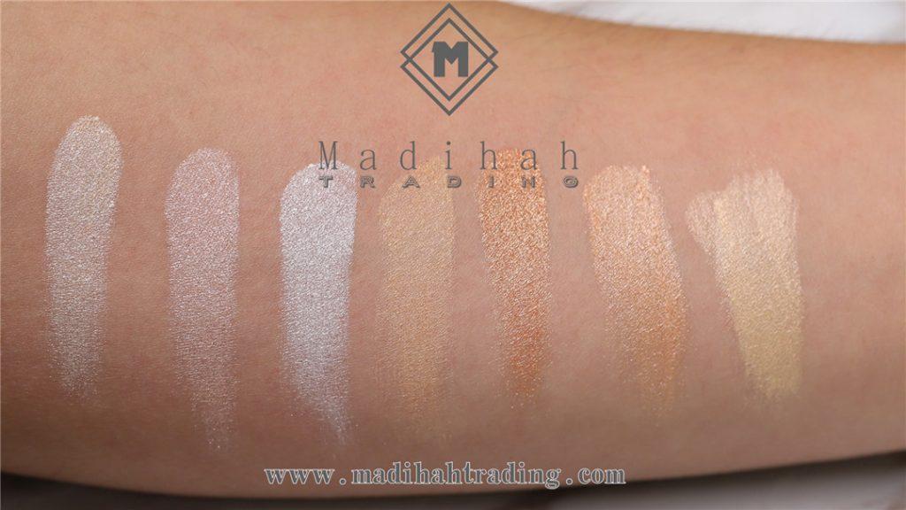 Madihah Highlighter Powder Swatches