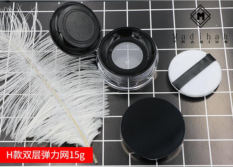 Madihah Empty Loose Powder Container H