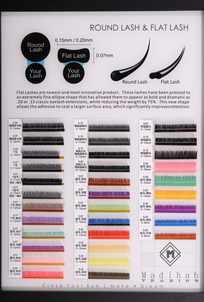 Madihah Customized Eyelash Extensions Styles And Colors Charts 2