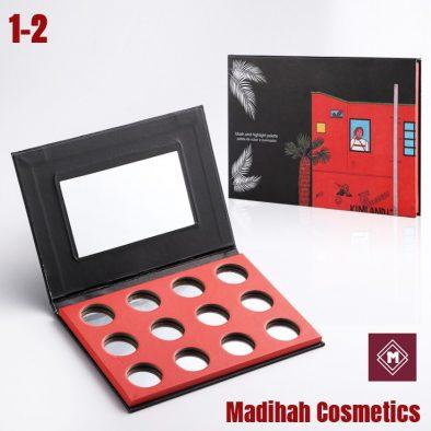 Madihah Cosmetics Customized Eyeshadow Palette Packaging 1-2