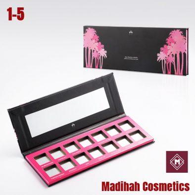 Madihah Cosmetics Customized Eyeshadow Palette Packaging 1-5