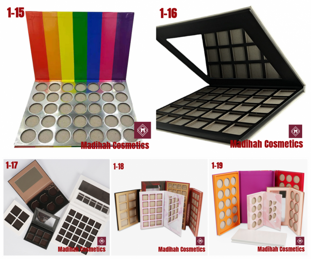 Madihah Cosmetics Customized Eyeshadow Palette Packaging Catalogue