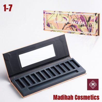 Madihah Cosmetics Customized Eyeshadow Palette Packaging 1-7