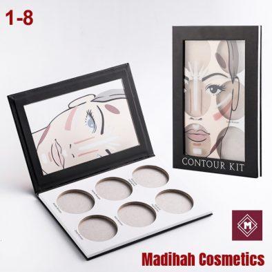 Madihah Cosmetics Customized Eyeshadow Palette Packaging 1-8