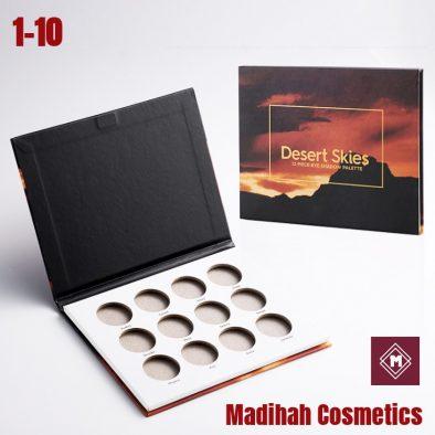 Madihah Cosmetics Customized Eyeshadow Palette Packaging 1-10