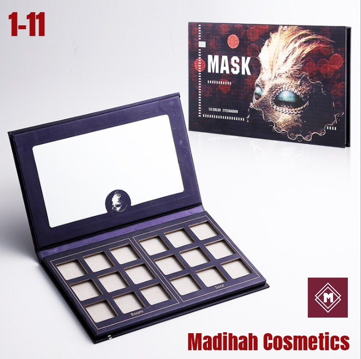 Madihah Cosmetics Customized Eyeshadow Palette Packaging 1-11