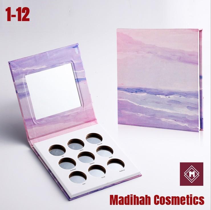 Madihah Cosmetics Customized Eyeshadow Palette Packaging 1-12