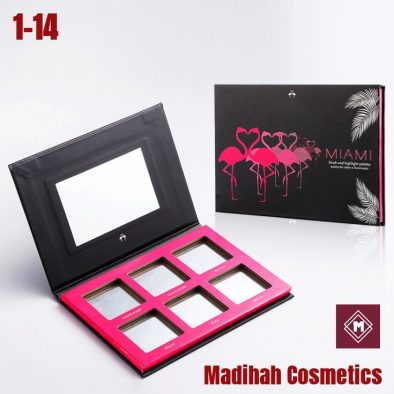 Madihah Cosmetics Customized Eyeshadow Palette Packaging 1-14