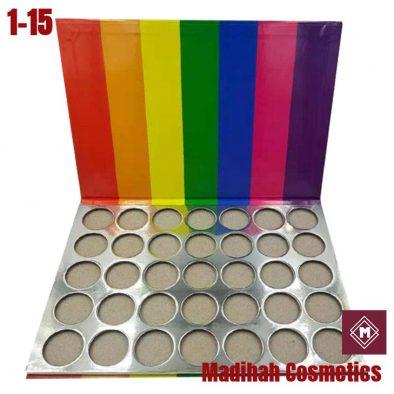 Madihah Cosmetics Customized Eyeshadow Palette Packaging 1-15