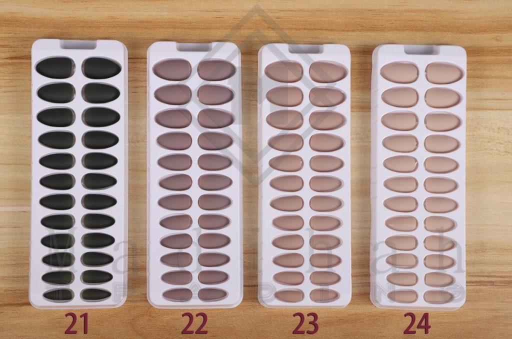 24pcs/Set Self Stick Full Cover Matte Fake Nails