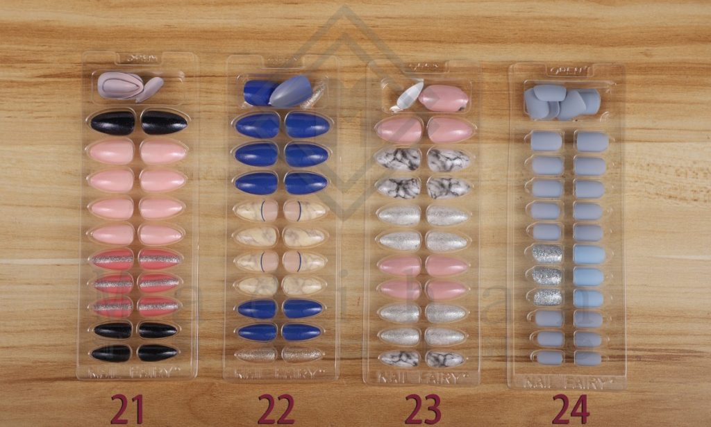 24PCS Press On Nails With Different Design